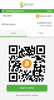 btc pay server invoice